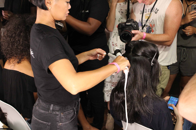 easy wavy hair rebecca minkoff curls back