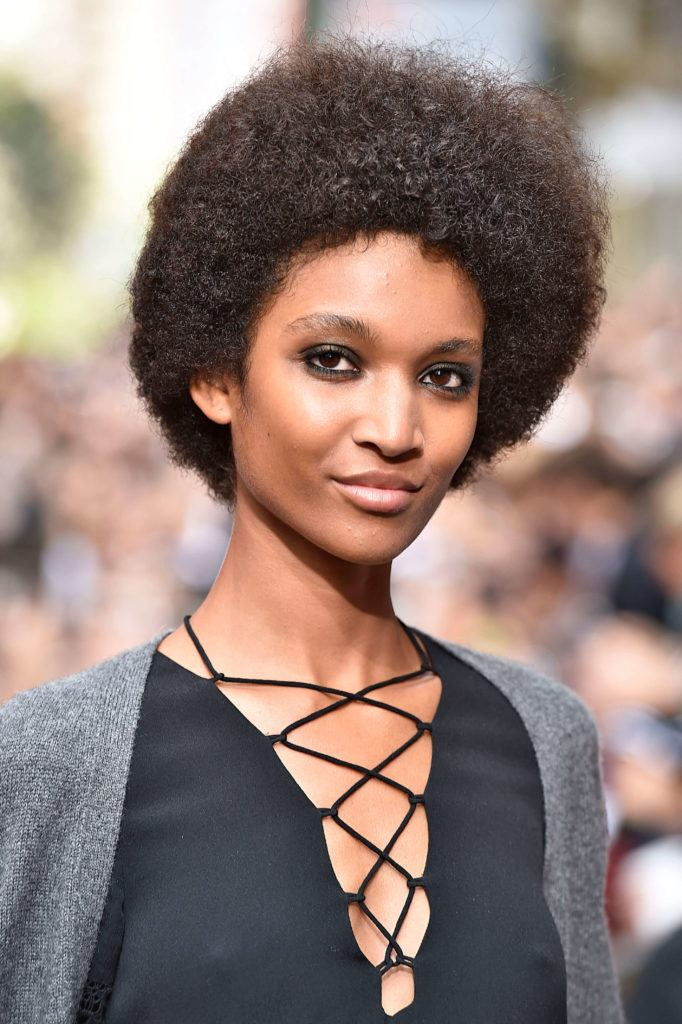 romantic hairstyles tapered afro rebecca mink off nyfw