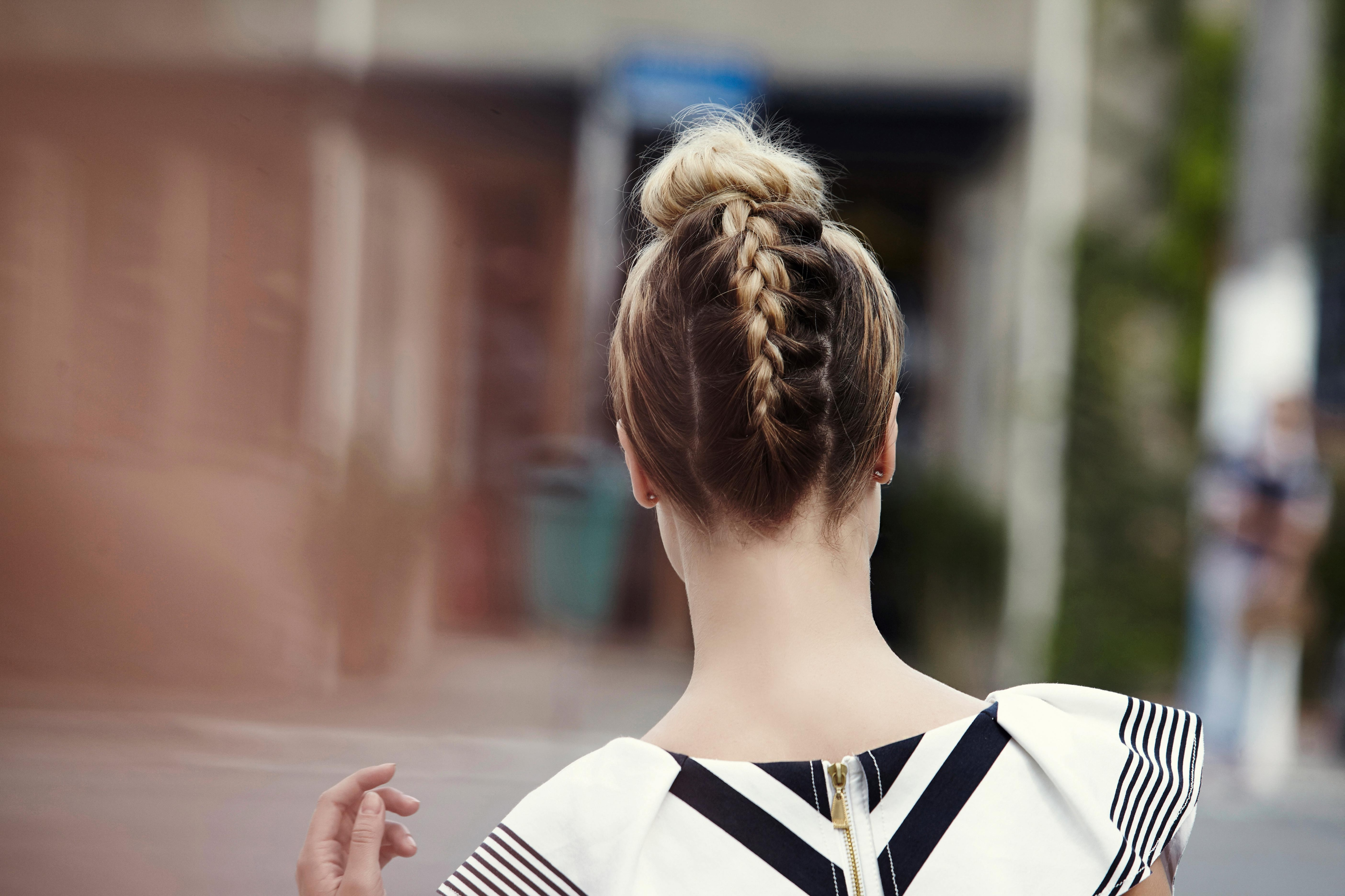 How To Create A Braided Top Knot In 2 Ways