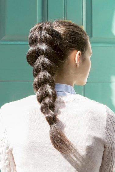 pull through braid ponytail tutorial