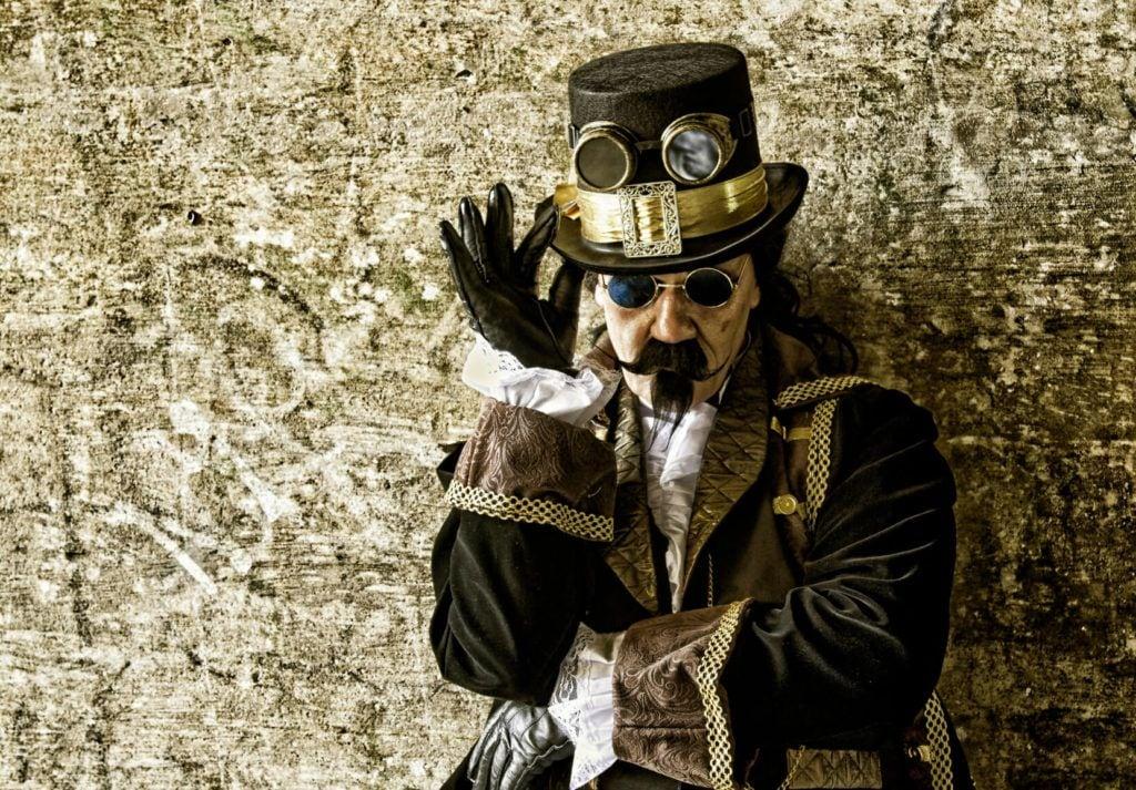 beard mustache steampunk captain