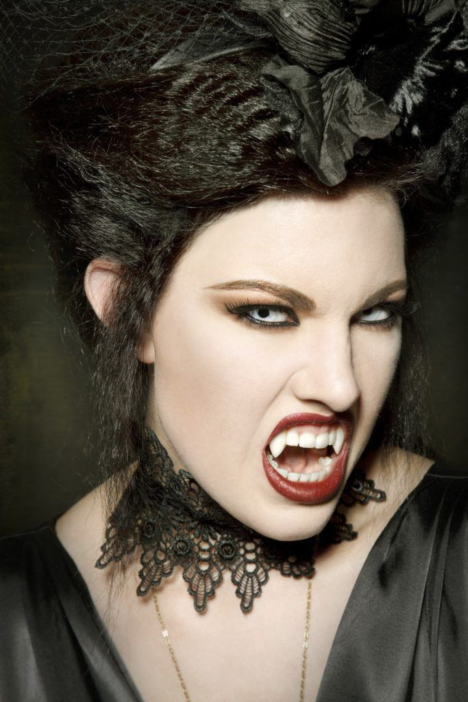 vampire hairstyles crimped updo