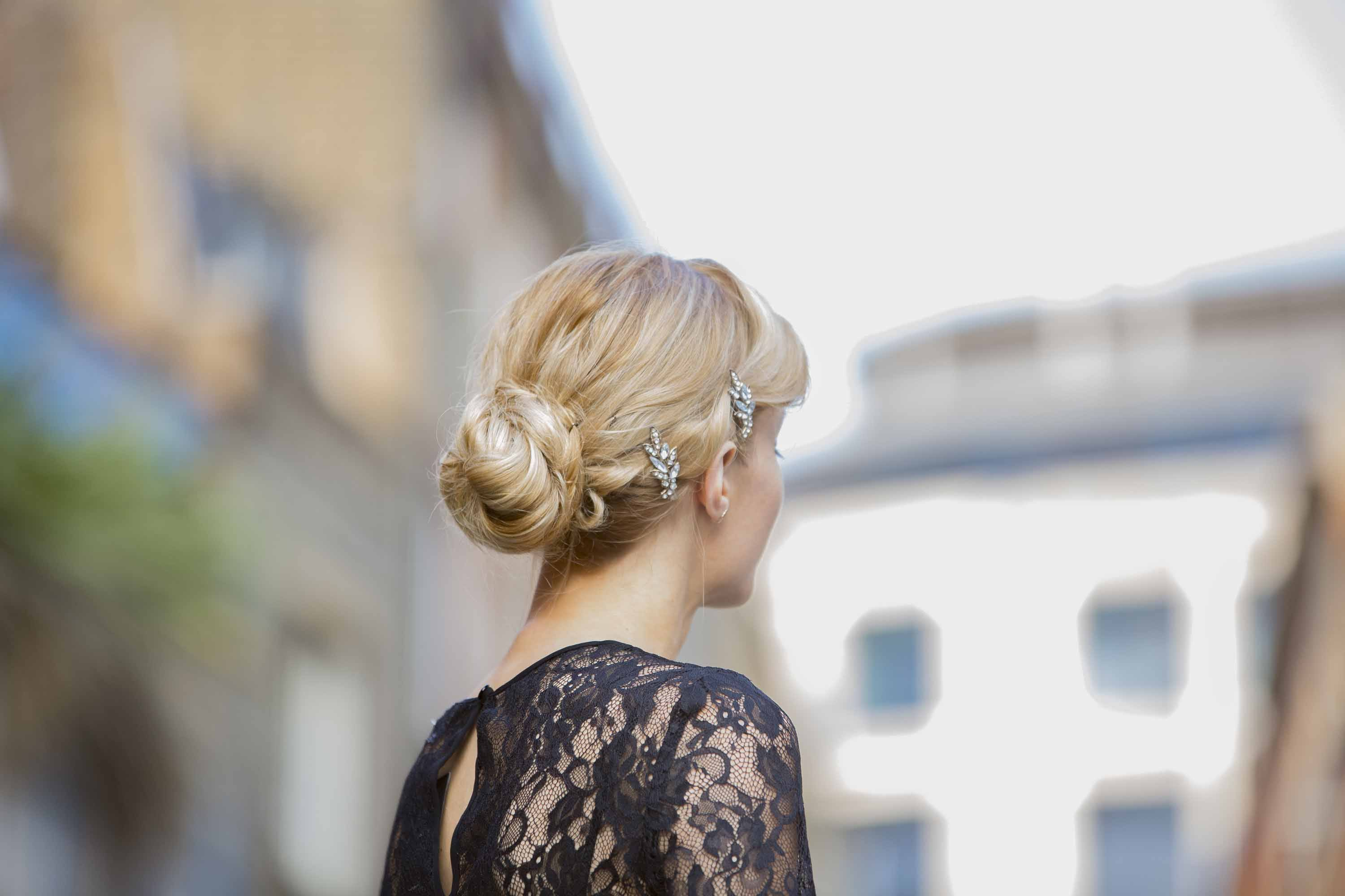 vintage updo hair accessories Holiday Hairstyles for Women Over 50
