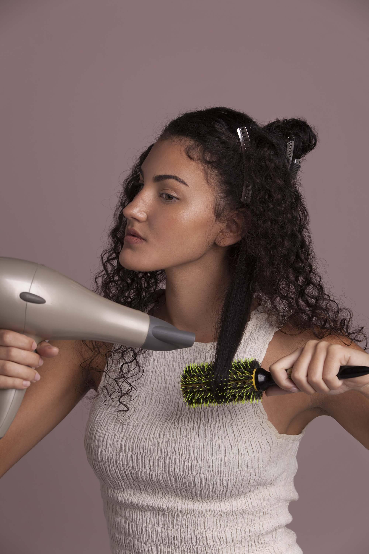 best brush for curly hair blowdry round brush