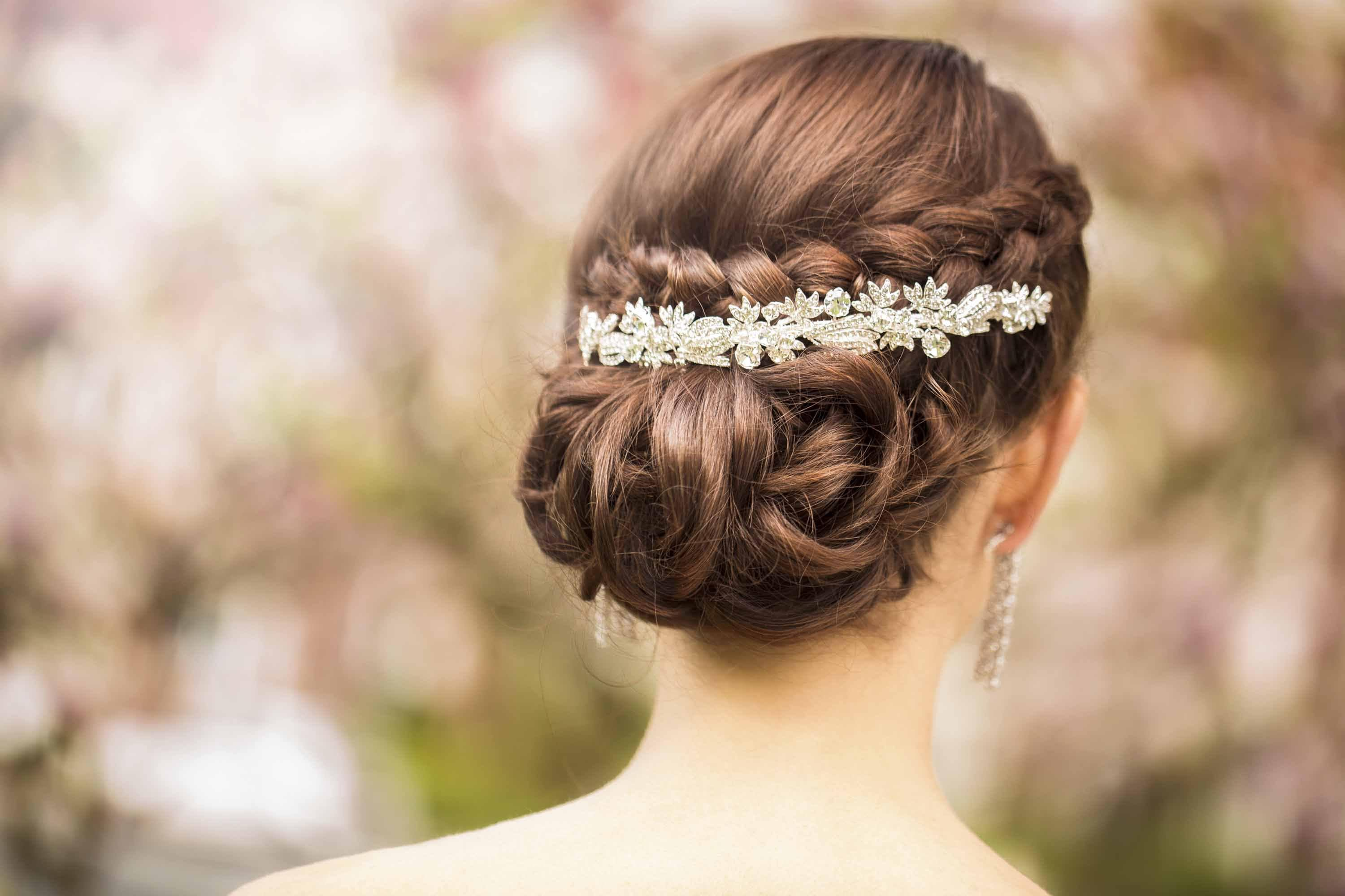 wedding updo hairstyles hair accessory