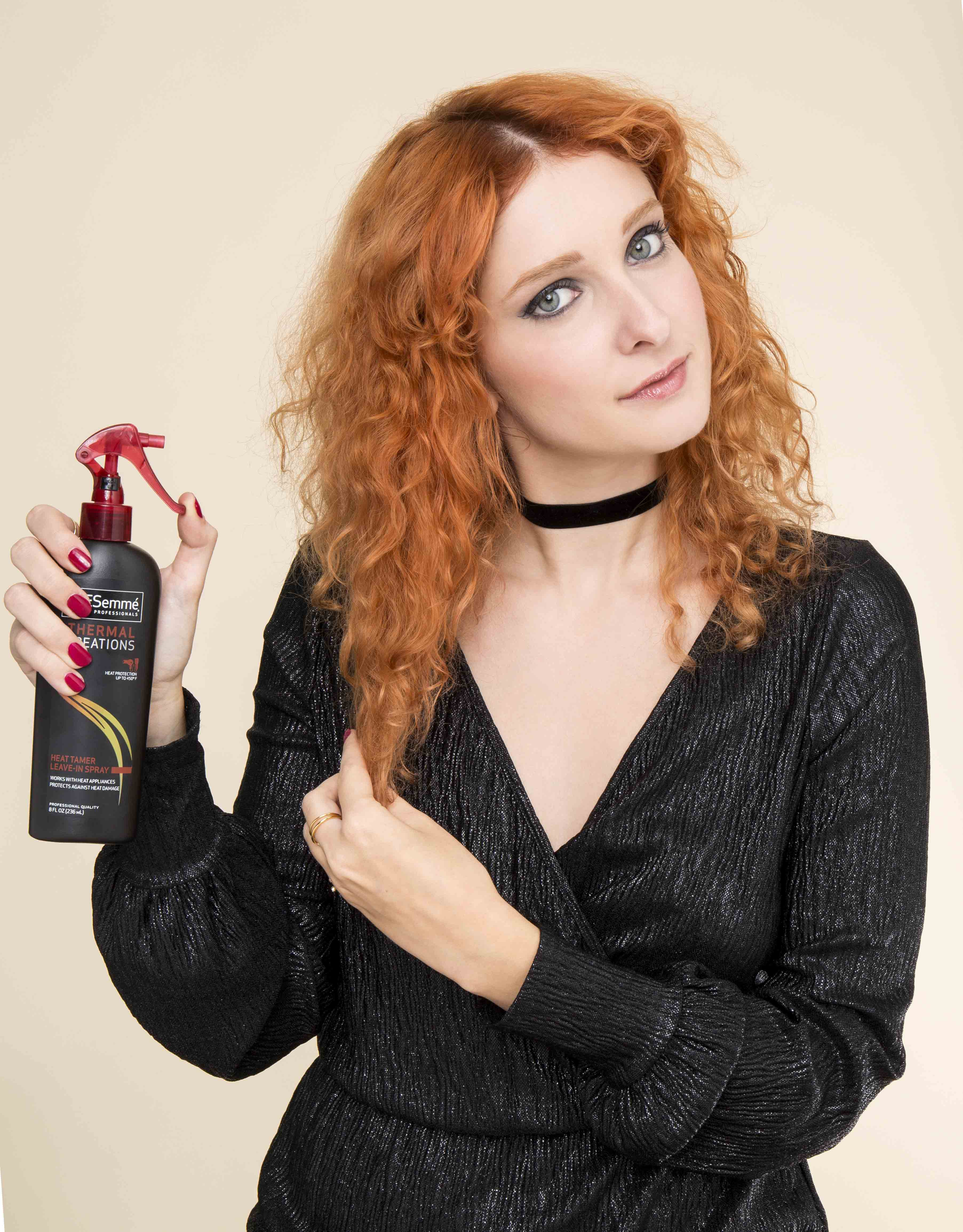 how to style curly hair heat protect
