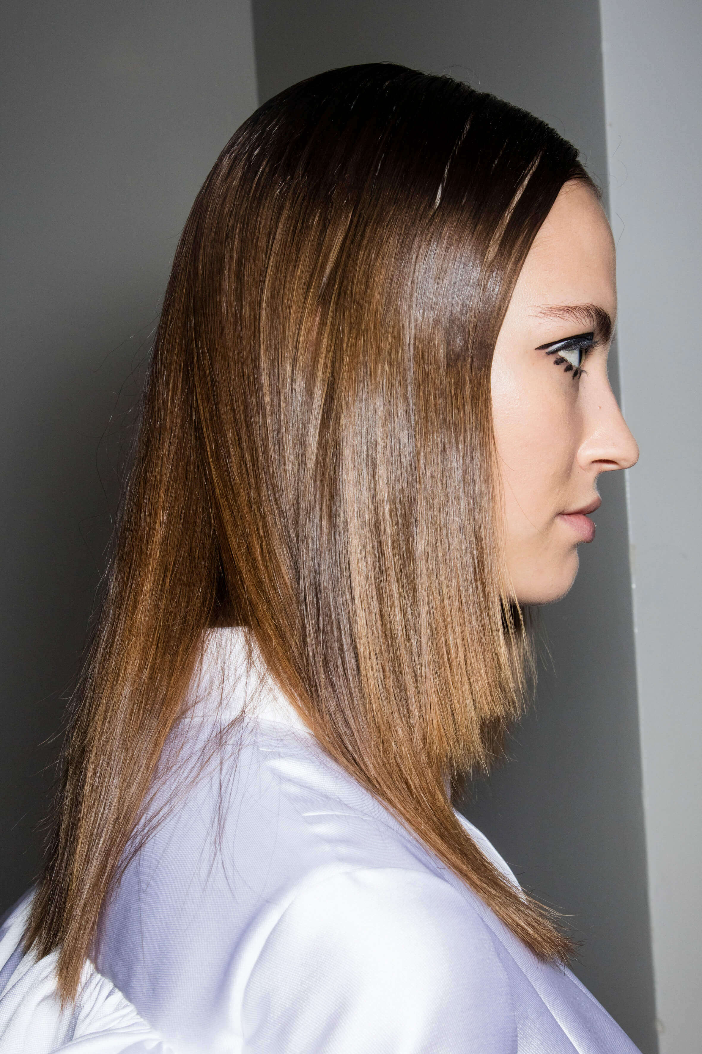 flat iron hairstyles sleek and straight