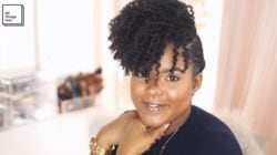 party hair twist out style natural hair mini marley