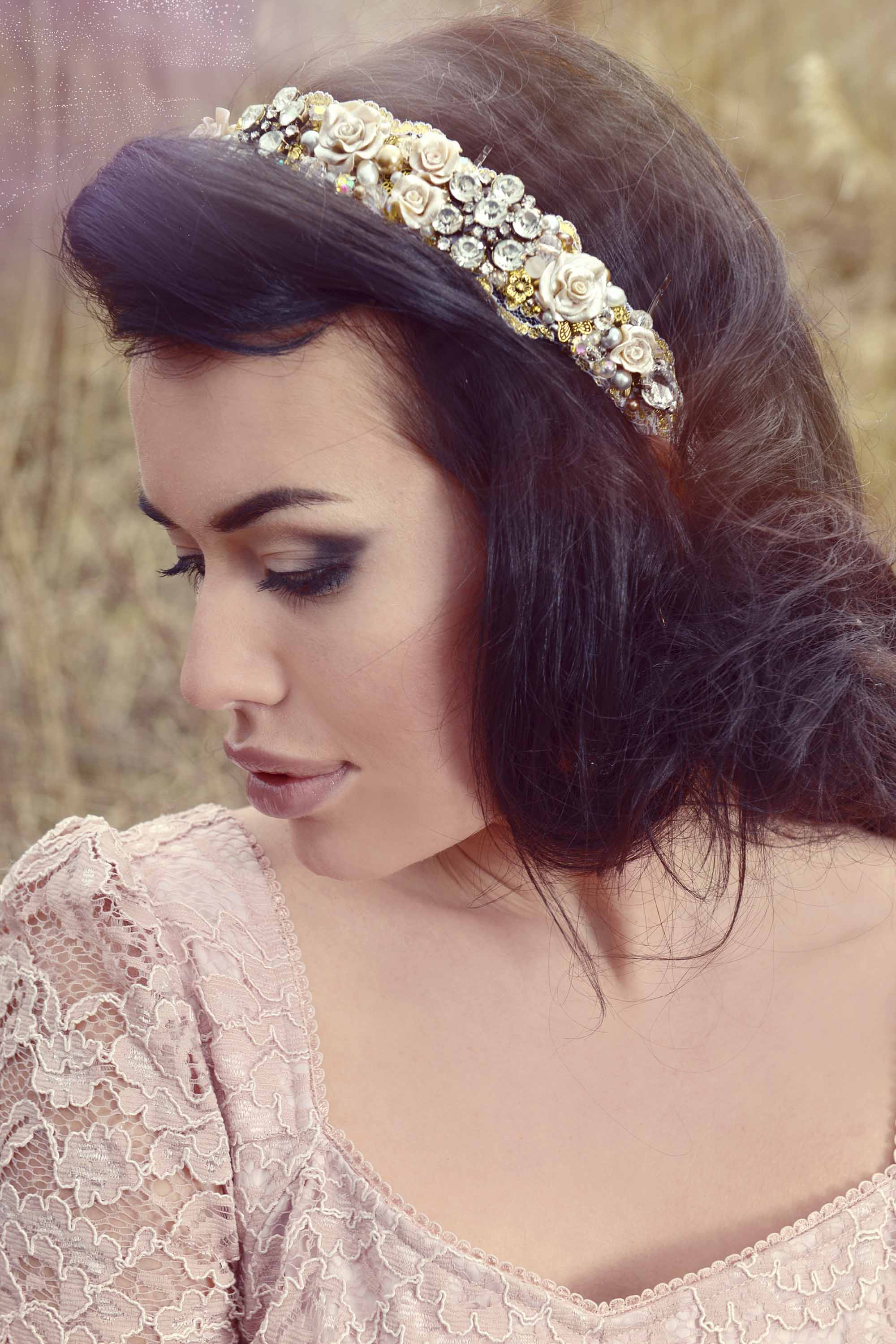 wedding updo hairstyles vintage