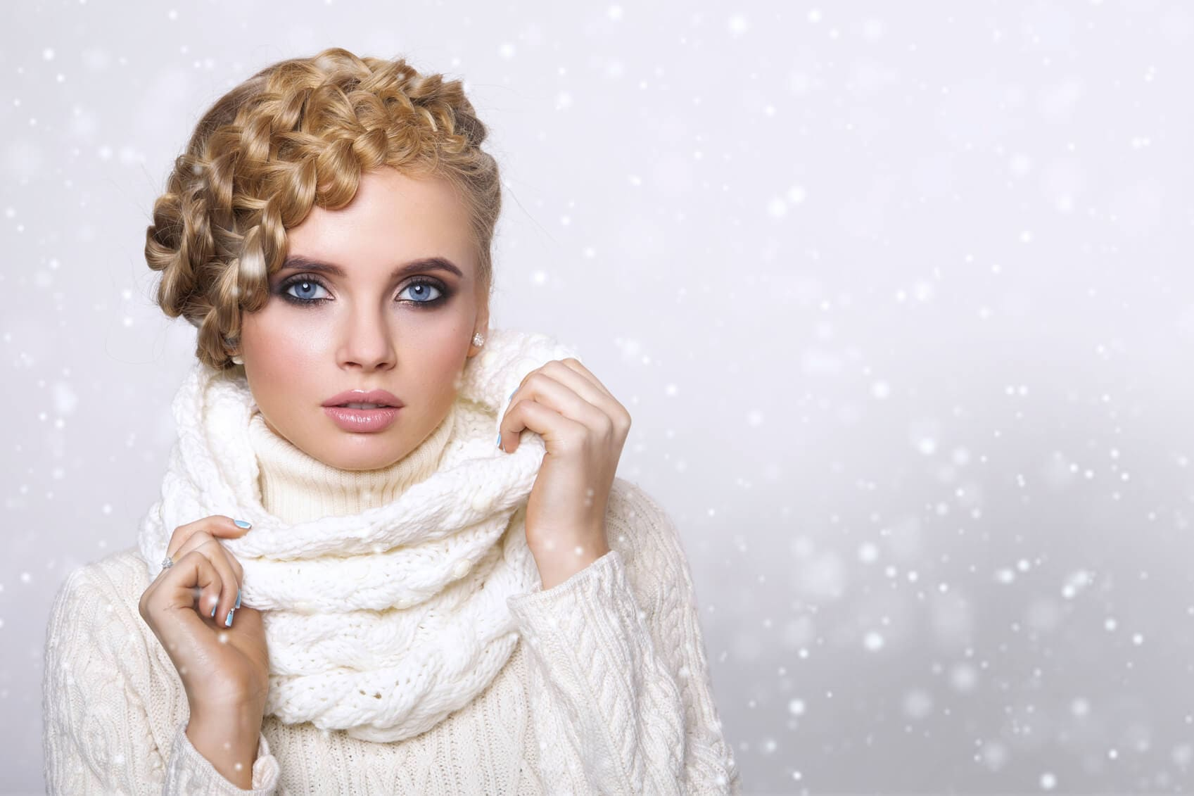 winter wedding hairstyles braided updo
