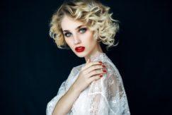 winter wedding hairstyles short curly hair