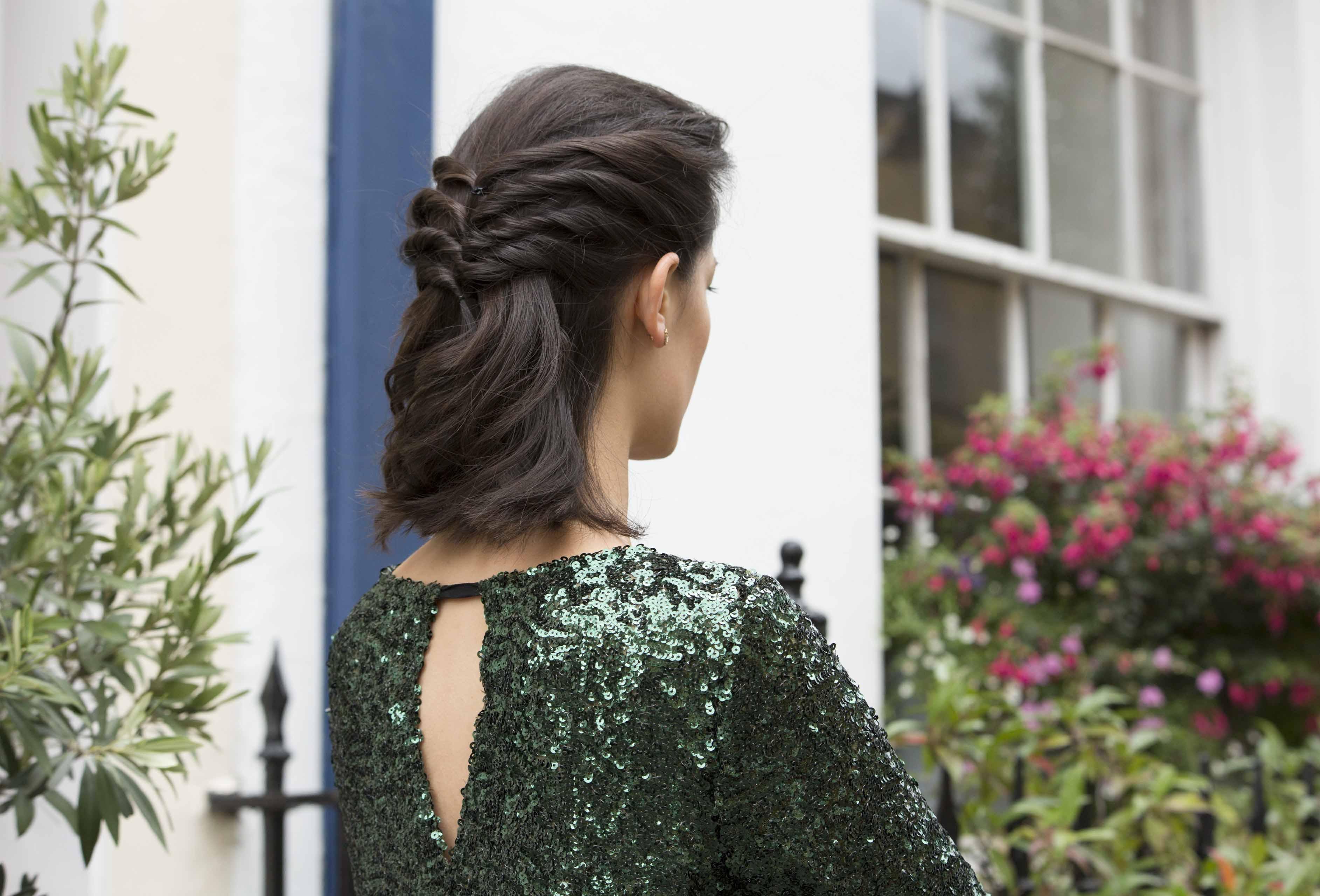 winter wedding hairstyles twisted half updo