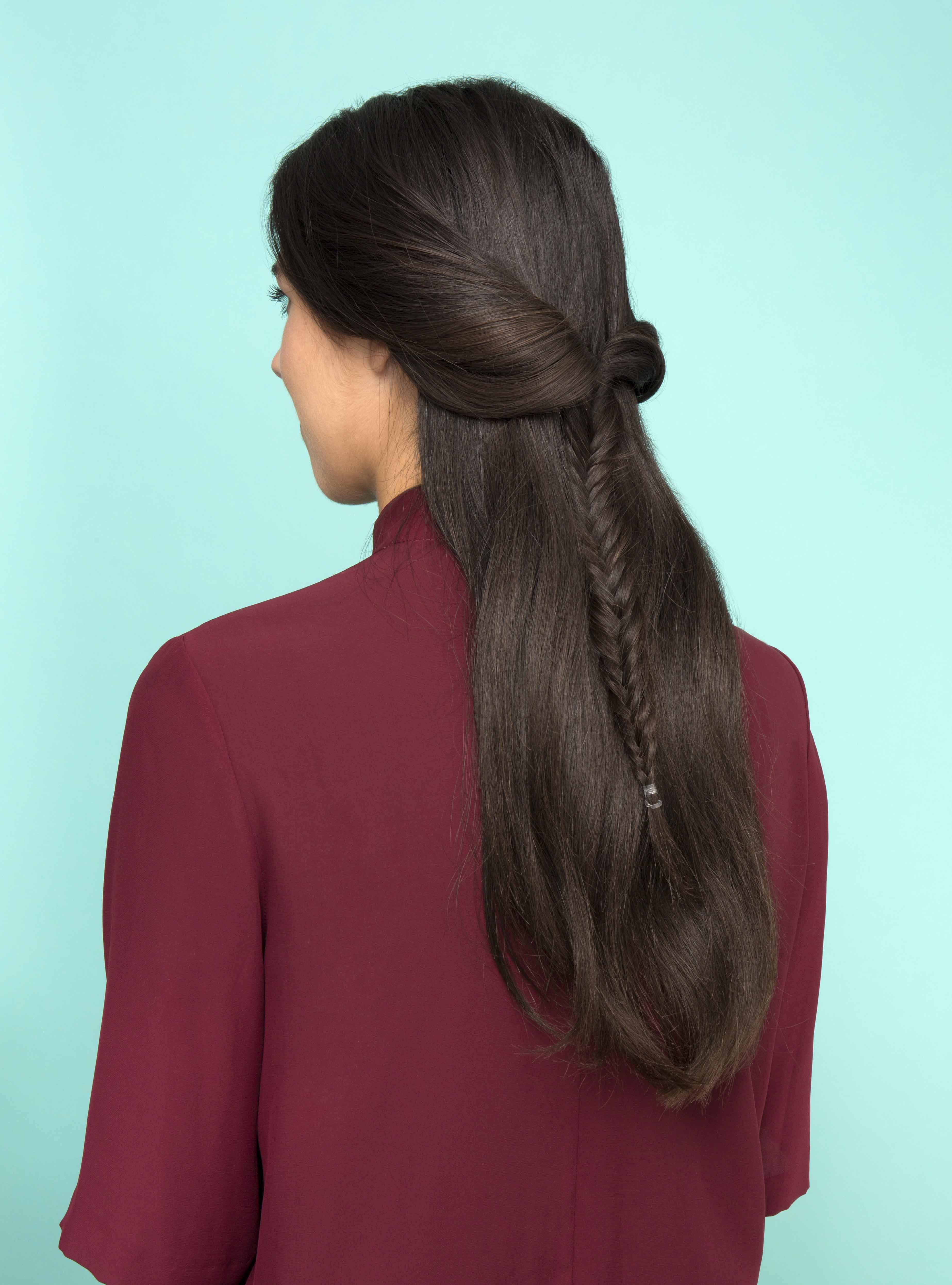 hair ideas fishtail braid