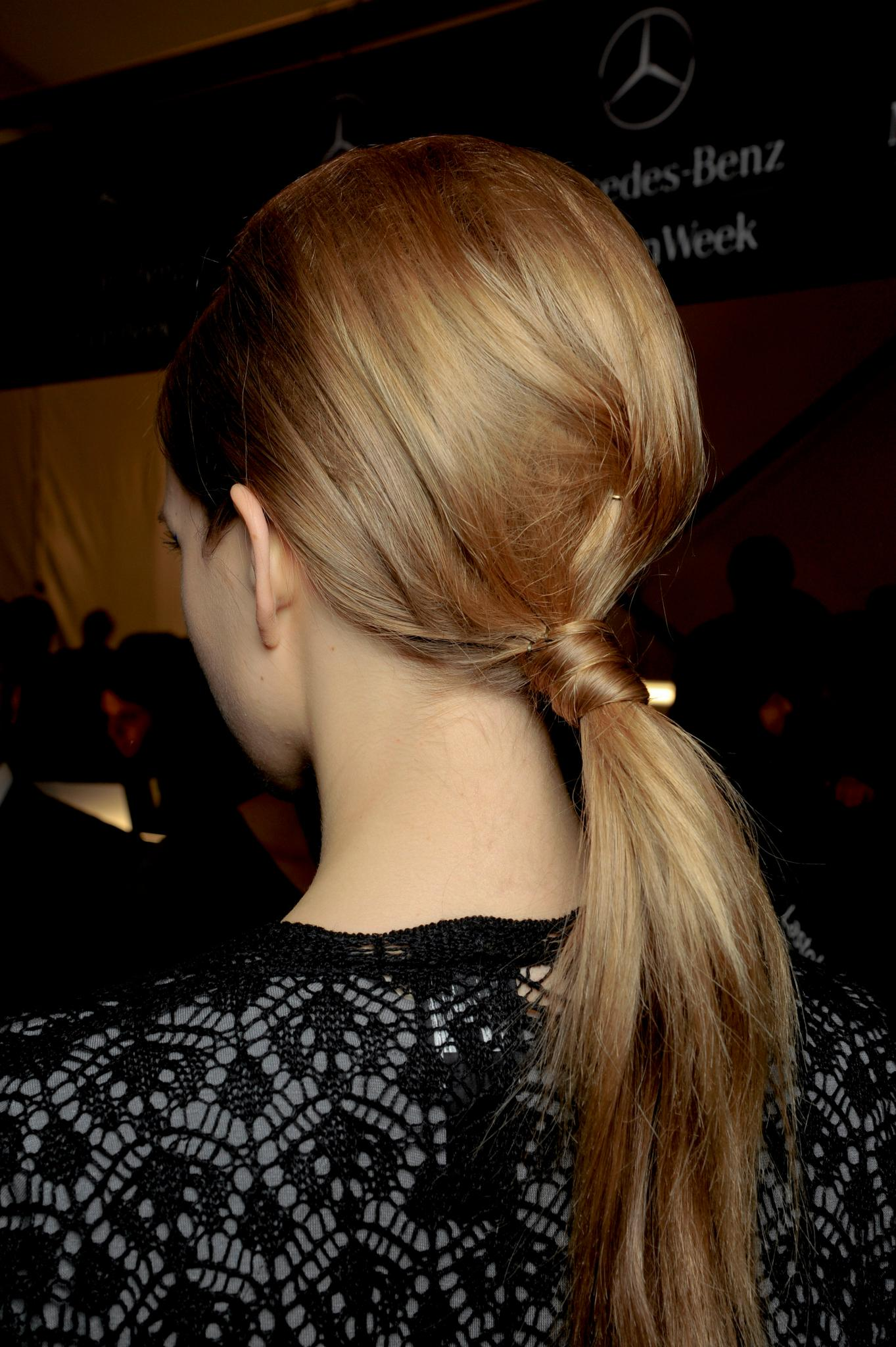 winter hairstyles for long hair simple updo