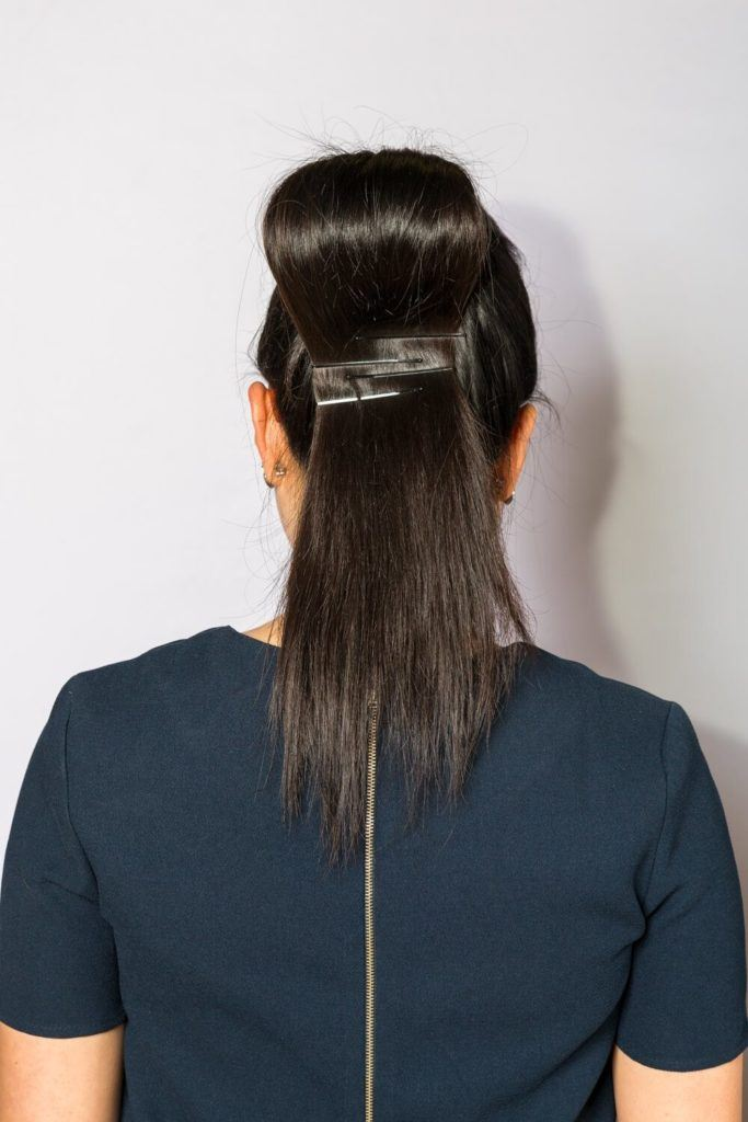 hair ideas pinned up ponytail