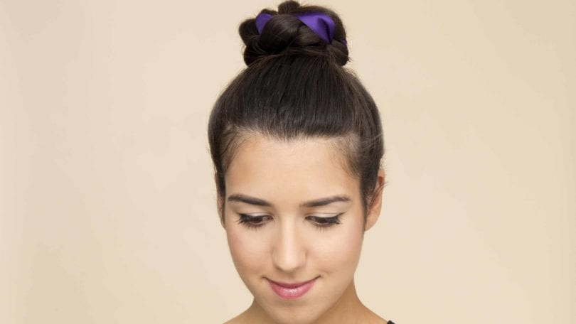 woven top knot but main