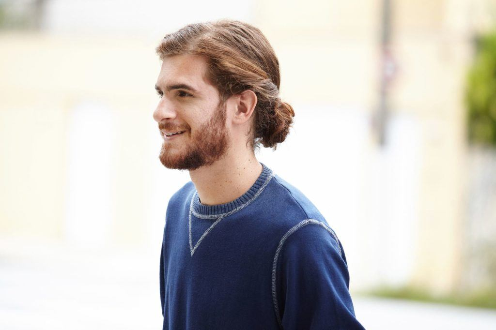 curly hairstyles for men 2017 twisted man bun