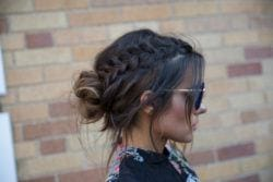 how to create a chic braid and bun updo from the red carpet