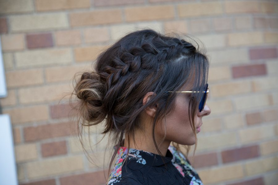 braided hair bun styles braid and bun updo get the carpet trend at home 7753