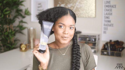 mini marley uses gel to create her braided hairstyle