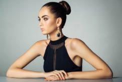 create winter ball hairstyles with a chic bun