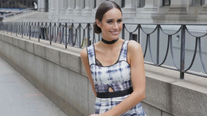 double braid bun twist hair tutorial with Louise Roe