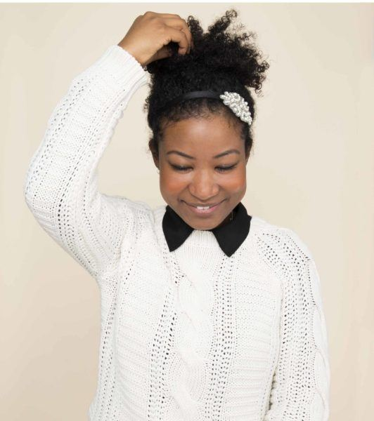 volume adds interest to a festive updo
