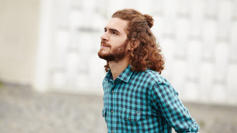 The Man Bun Half Updo An Easy Look For Curly Dudes