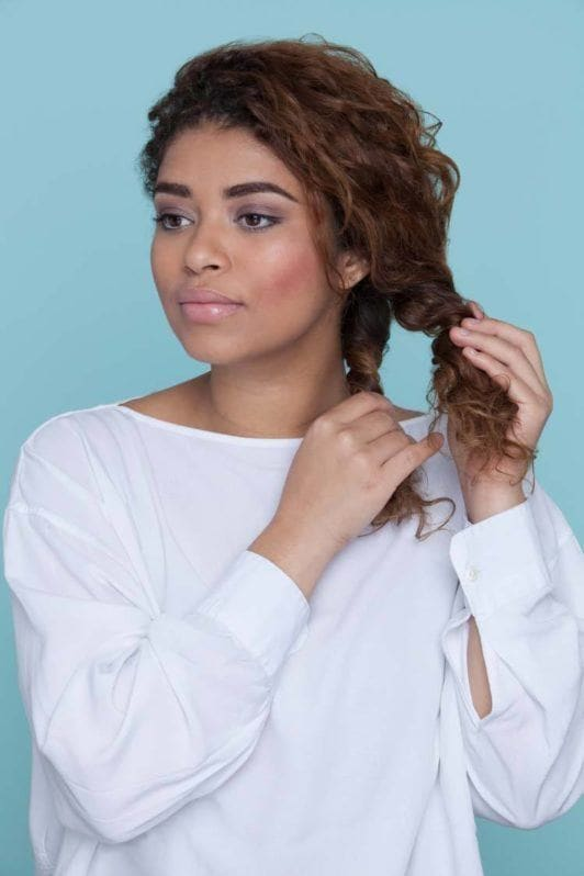 how to fishtail braid create side part