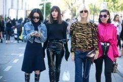 women wearing lob styles