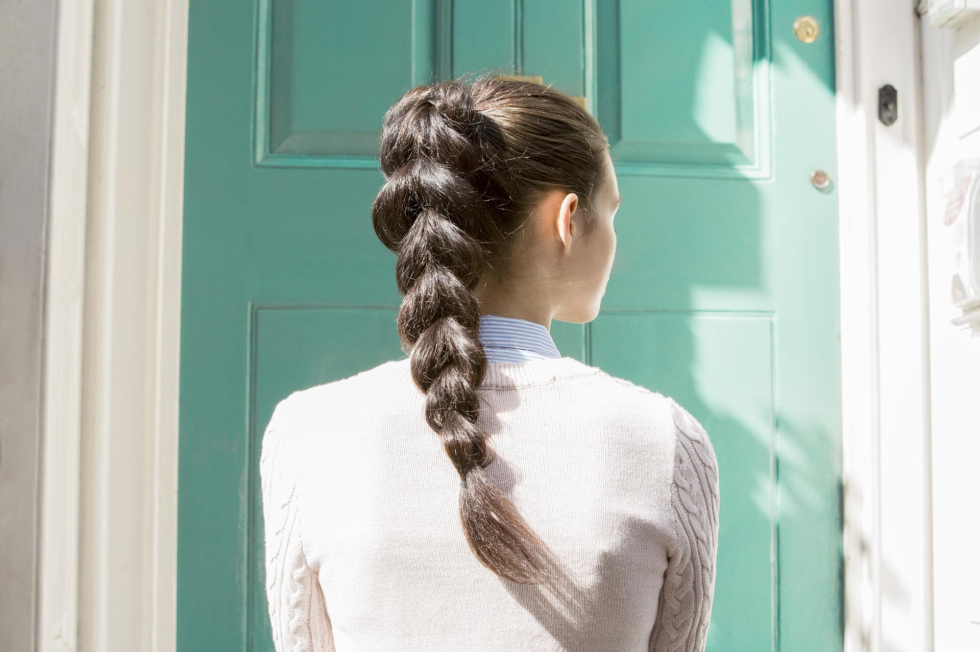 new ponytail idea with a thick braid