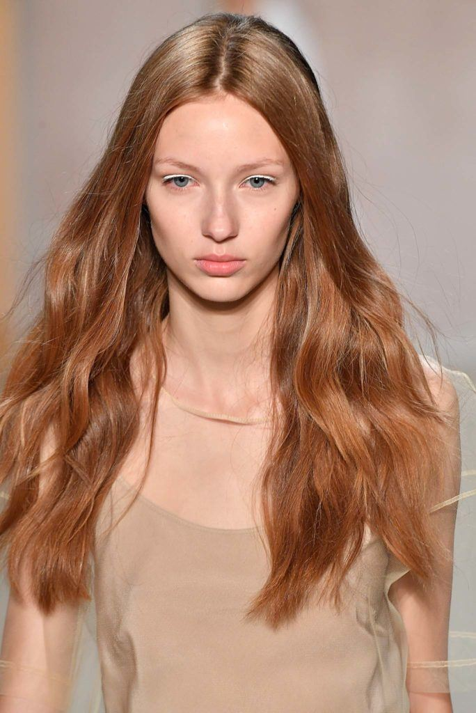 red hair with highlights copper waves