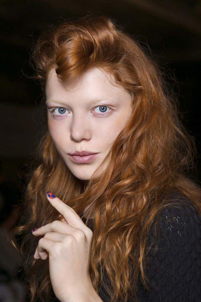 red hair with highlights auburn