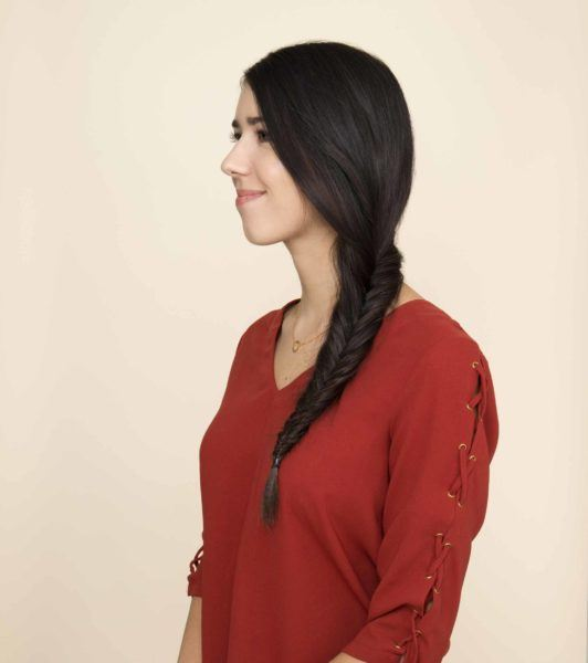 how to side fishtail braid final look