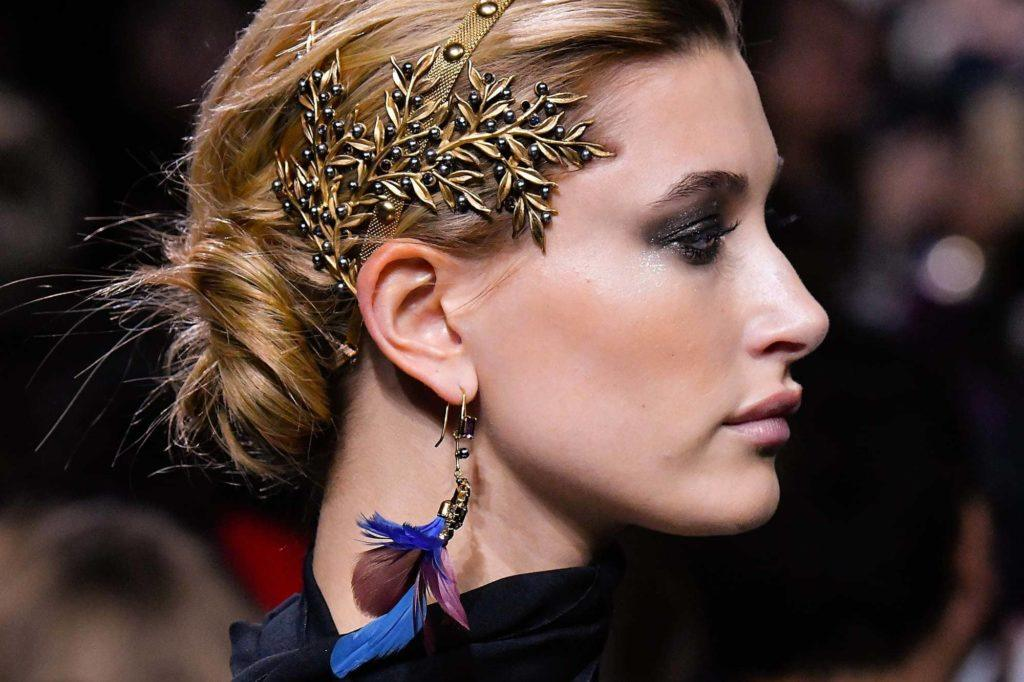 twisted chignon: ornate accessories