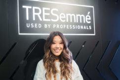 amy vagabond interview at the Tresemme pop-up salon