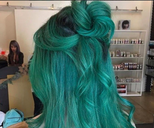bright hair colors with green
