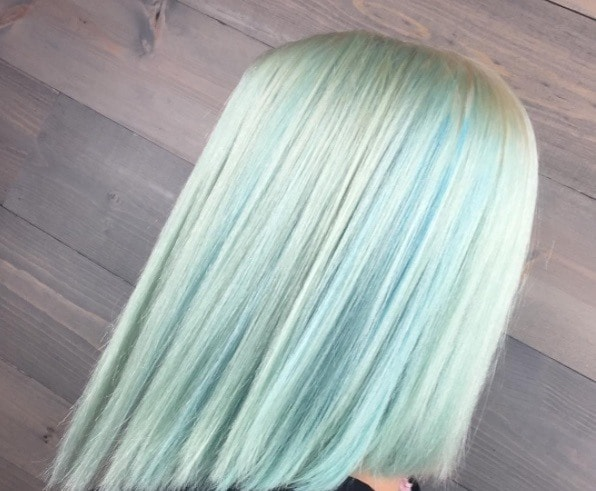 bright hair colors we love teal