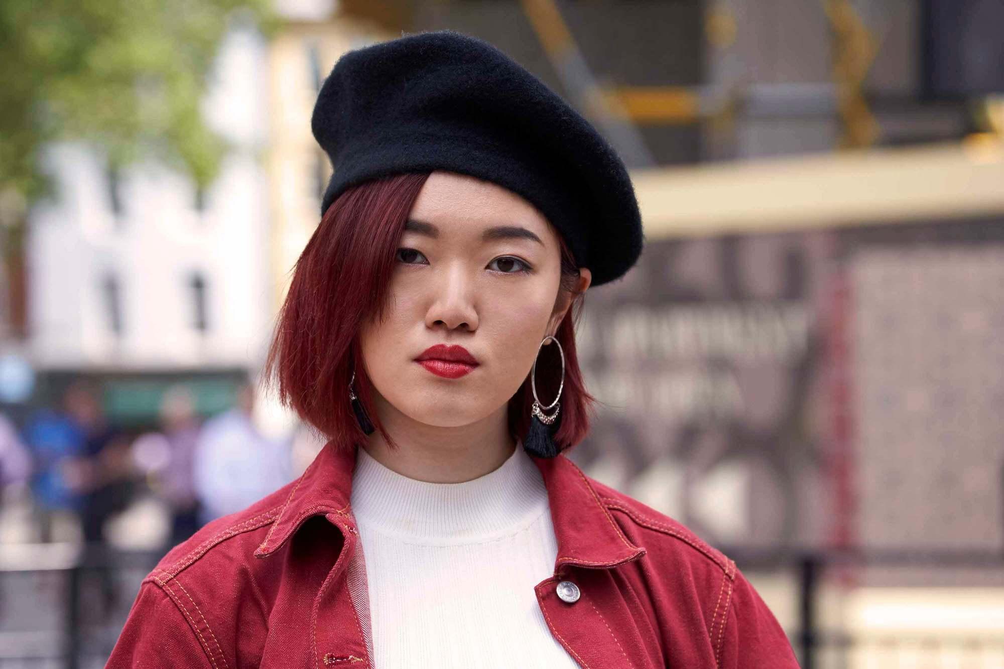 dark red hair colors: Burgundy Red
