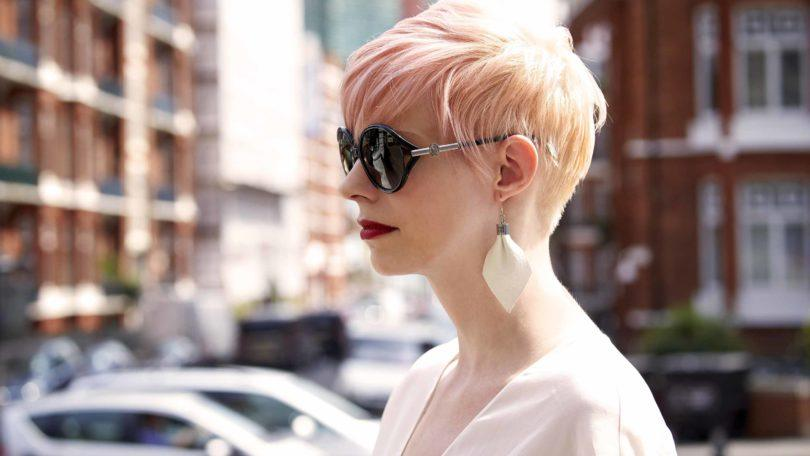 dyed hair colors pink pixie