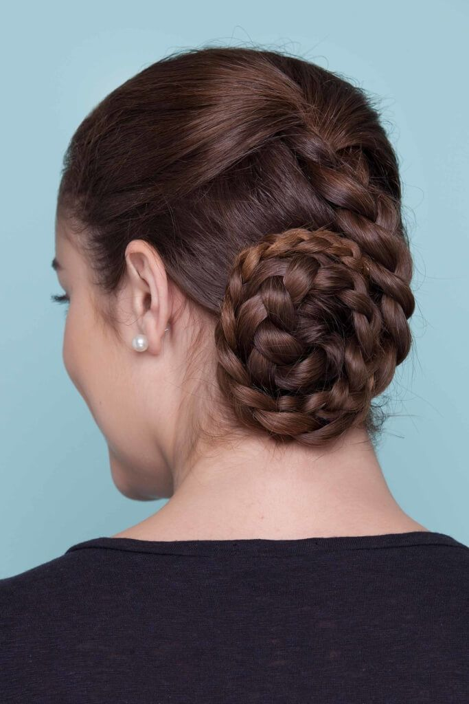 fancy hairstyles braided updo