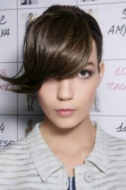 Flicked side bangs are one of the more practical fresh bang hairstyles