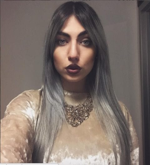 gray hair color trend from Instagram