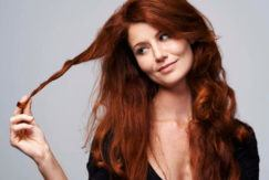 hair oil treatment on red hair