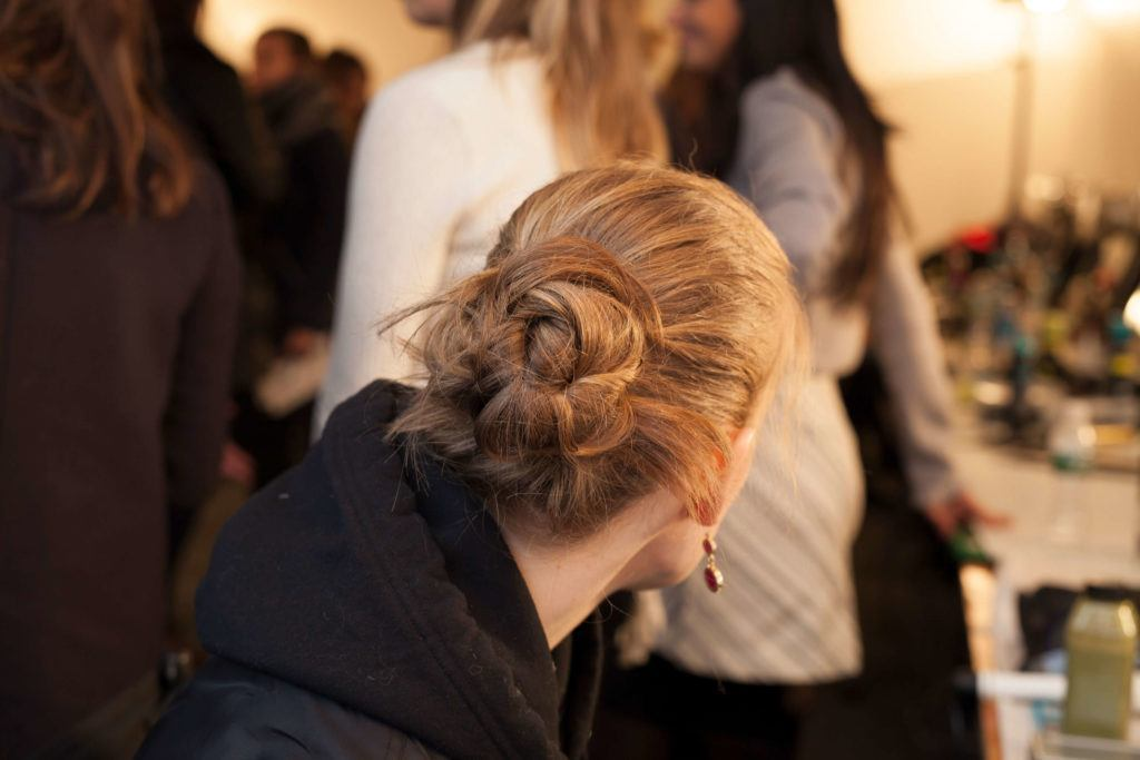 hair trends from nyfw twisted bun
