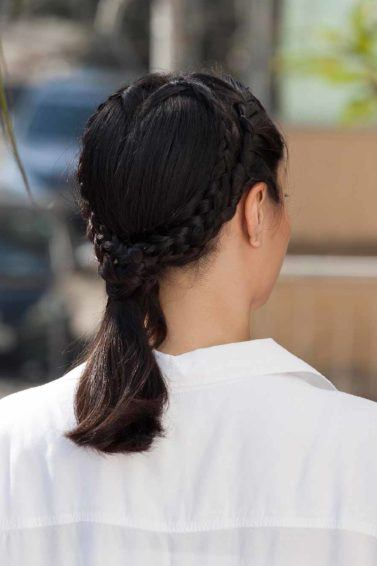Heart braid is a quirky hairstyles that is both festive and glamorous