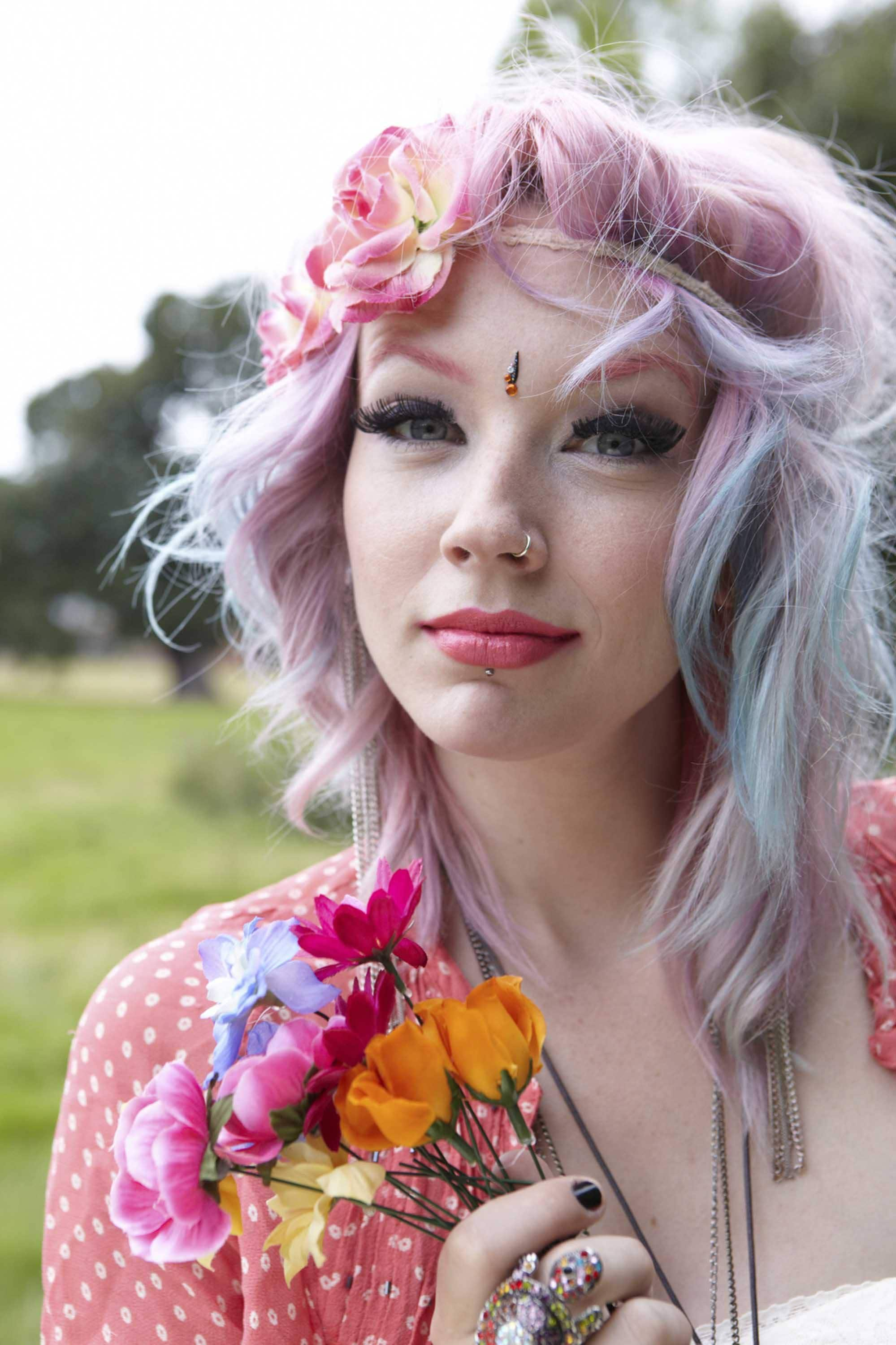 get inspired by opal jewel toned hair colors