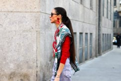 low ponytail classic look
