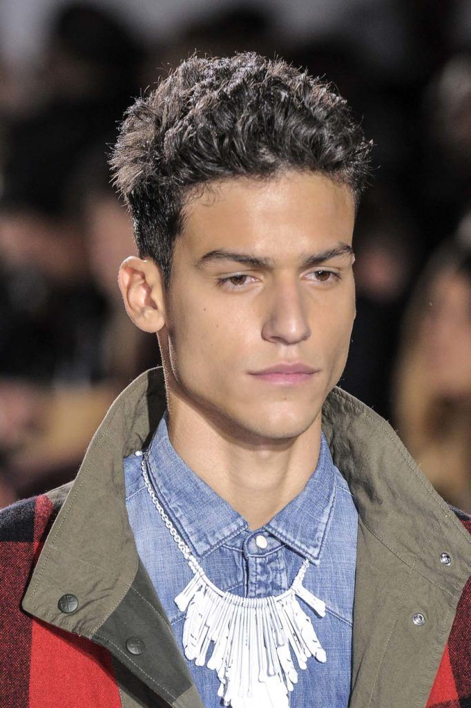 how to wear curly men's undercut hairstyle