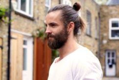 new man bun hairstyles to try with a beard